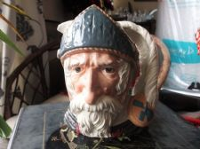 LARGE COLLECTABLE ROYAL DOULTON CHARACTER TOBY JUG DON QUIXOTE D6455 7.5""